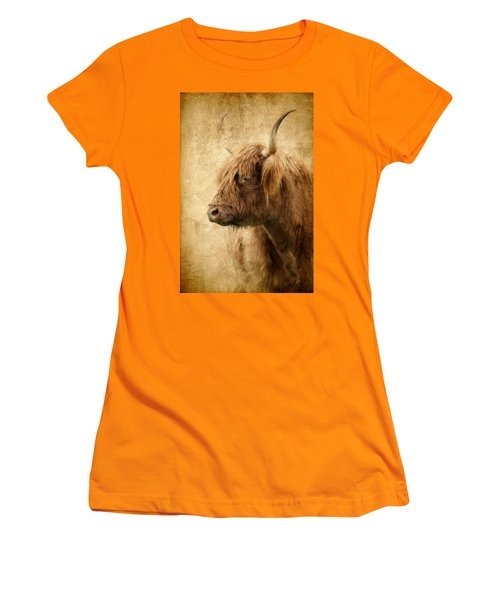 Highland Bull Women's T-Shirt (Athletic Fit)