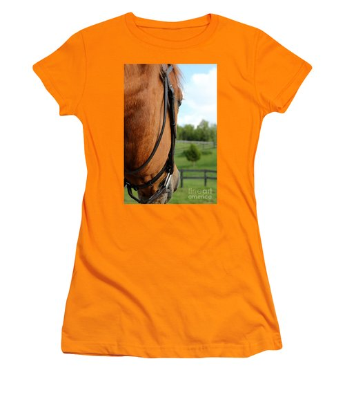 Horse View Women's T-Shirt (Athletic Fit)