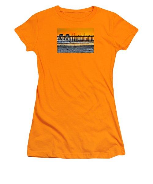 Huntington Beach Sunset Women's T-Shirt (Junior Cut) by Jim Carrell