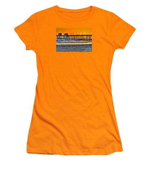 Huntington Beach Sunset Women's T-Shirt (Athletic Fit)