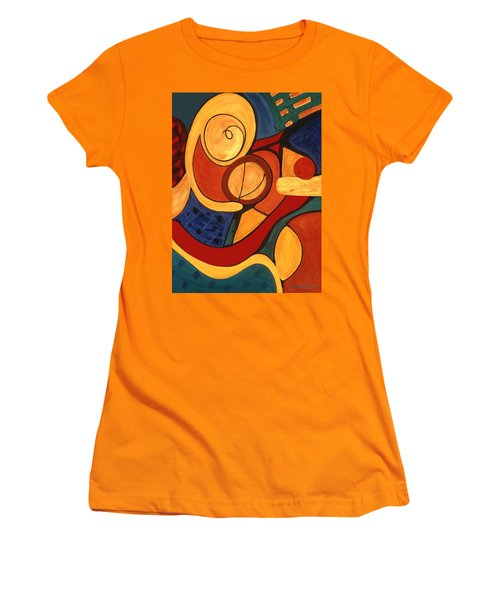 Women's T-Shirt (Junior Cut) featuring the painting Illuminatus 3 by Stephen Lucas