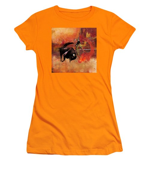 Impressionistic Bullfighting Women's T-Shirt (Junior Cut) by Corporate Art Task Force