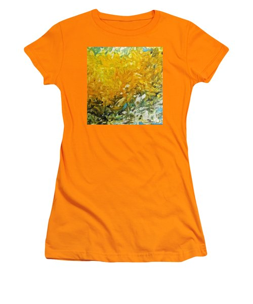 Women's T-Shirt (Junior Cut) featuring the painting In My Magic Garden by Joan Reese