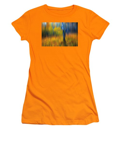 In The Golden Woods. Impressionism Women's T-Shirt (Junior Cut) by Jenny Rainbow
