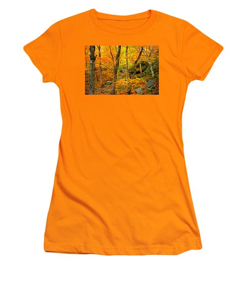 Women's T-Shirt (Junior Cut) featuring the photograph In The Woods by Bill Howard