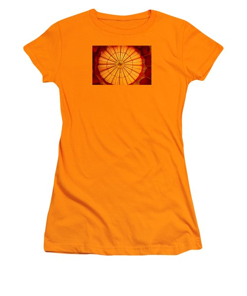 Women's T-Shirt (Junior Cut) featuring the photograph Inside The Red Baloon by Nadalyn Larsen