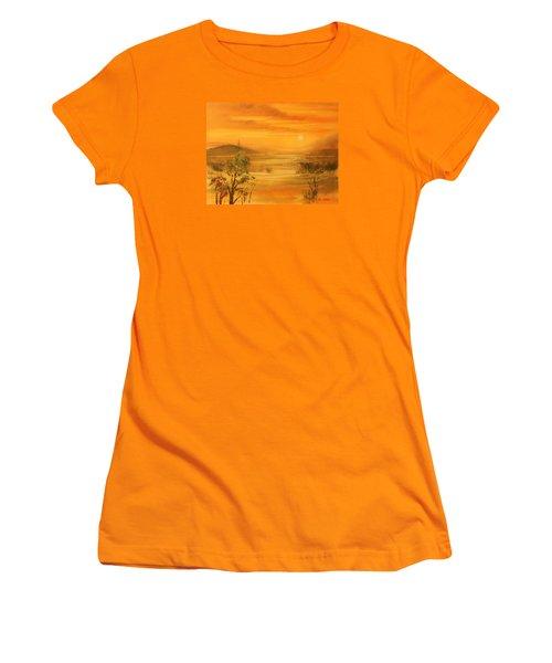 Intense Orange Women's T-Shirt (Athletic Fit)