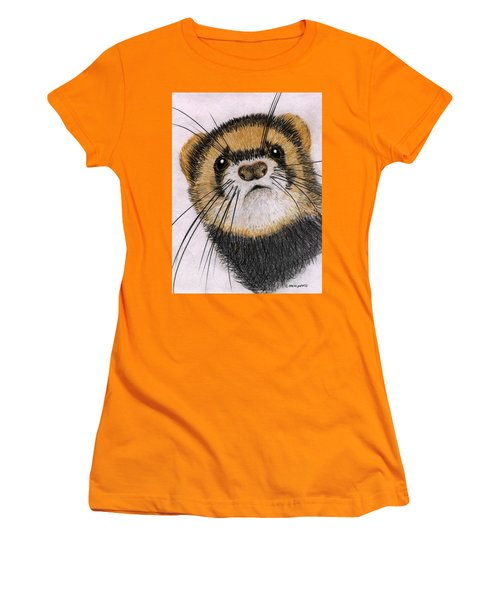 Jasper Women's T-Shirt (Junior Cut) by Barbara Moignard