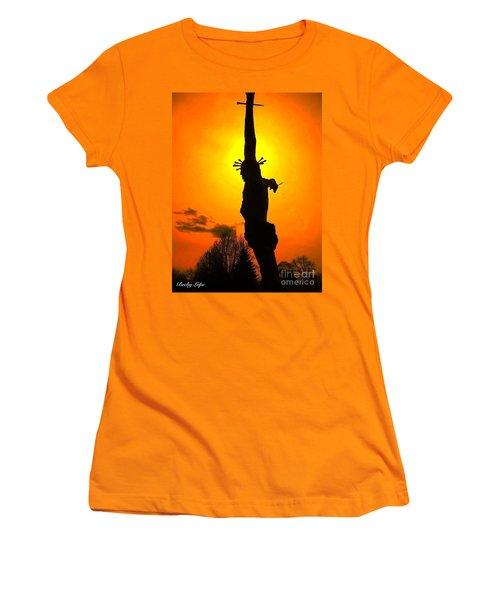 Jesus In Sunset 1 Hope Women's T-Shirt (Junior Cut) by Becky Lupe