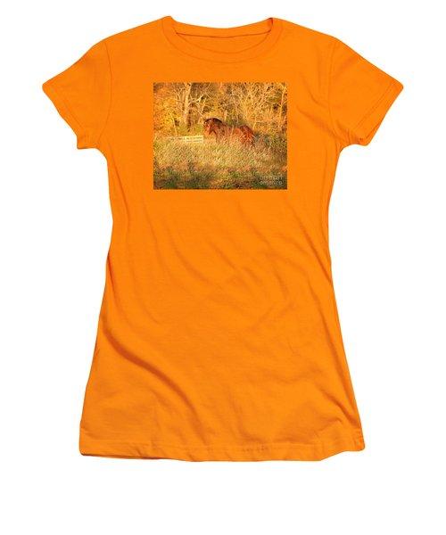 Women's T-Shirt (Athletic Fit) featuring the photograph Jonathan by Carol Lynn Coronios