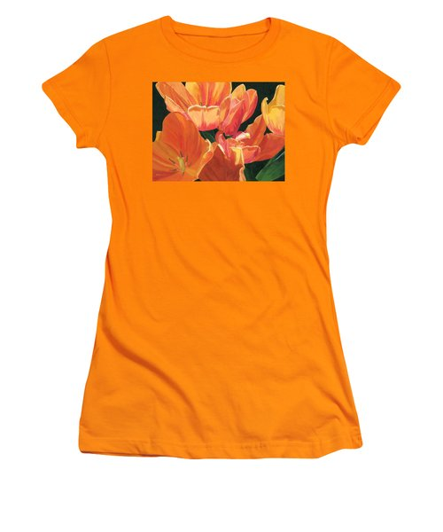 Julie's Tulips Women's T-Shirt (Athletic Fit)