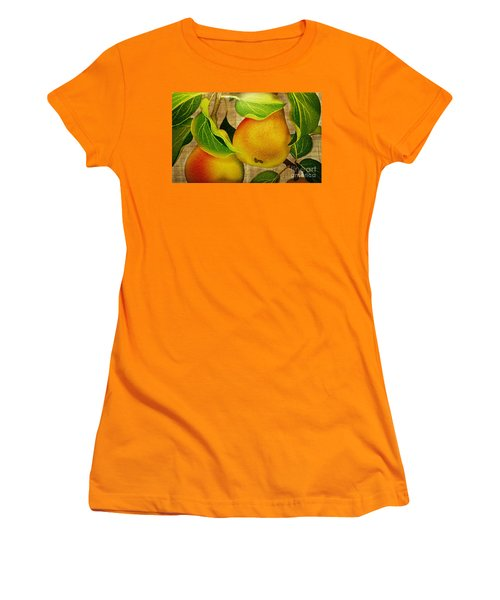 Women's T-Shirt (Junior Cut) featuring the photograph Just Pears by Judy Palkimas