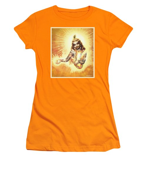 Krishna Vision In The Clouds Women's T-Shirt (Athletic Fit)