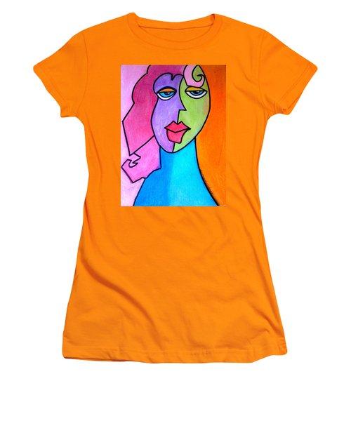 Red Head Pop  Women's T-Shirt (Junior Cut) by Kelly Turner