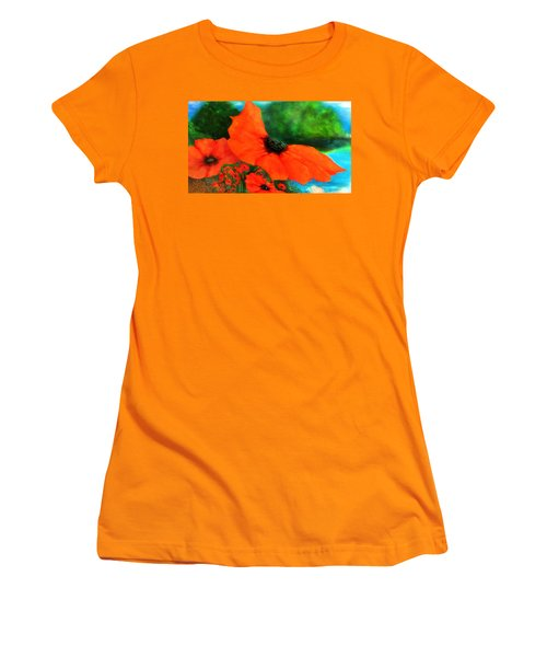 Lakeside Bloom Women's T-Shirt (Athletic Fit)