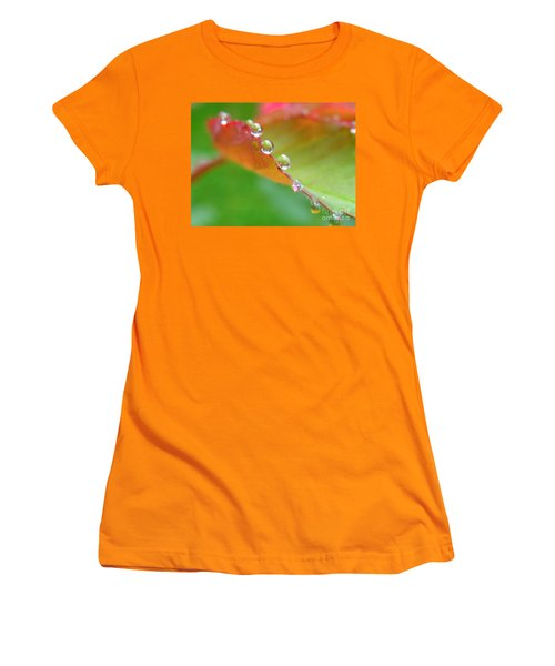 Leaf Pearls Women's T-Shirt (Athletic Fit)
