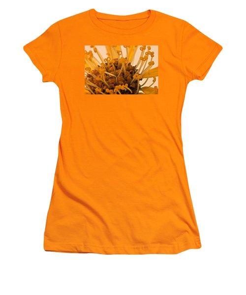 Women's T-Shirt (Junior Cut) featuring the photograph Leopards Bane Flower Macro by Sandra Foster