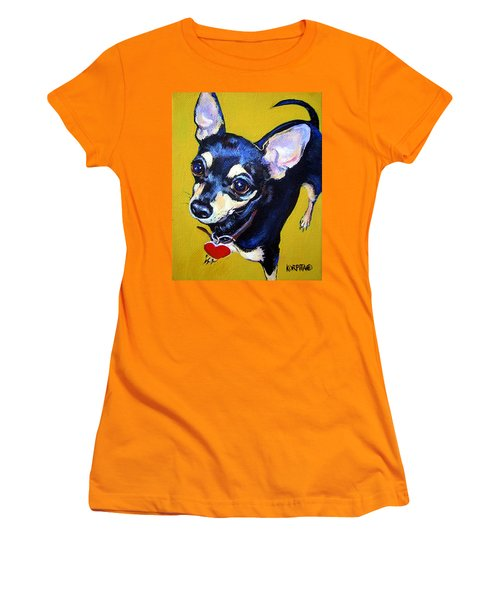 Little Bitty Chihuahua Women's T-Shirt (Junior Cut) by Rebecca Korpita