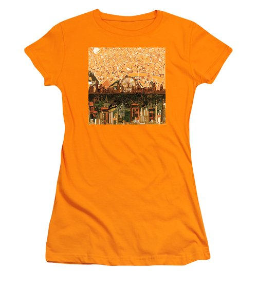 London Skyline Abstract 7 Women's T-Shirt (Athletic Fit)