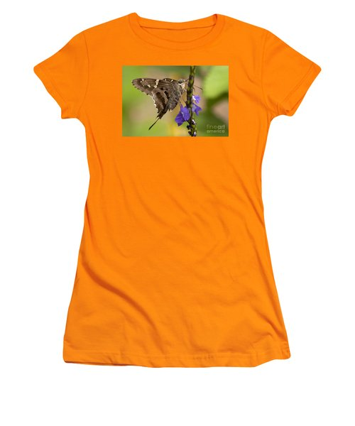Women's T-Shirt (Junior Cut) featuring the photograph Long-tailed Skipper Photo by Meg Rousher