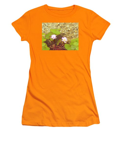 Women's T-Shirt (Junior Cut) featuring the photograph Lotus by Mini Arora