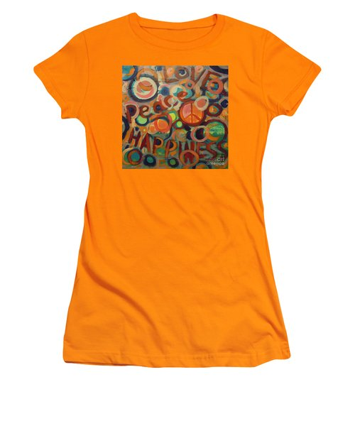 Love Peace Happiness Women's T-Shirt (Athletic Fit)