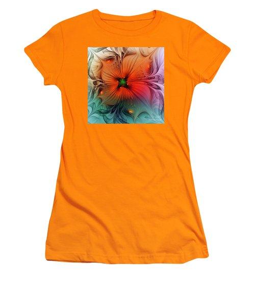 Luxury Blossom Dressed In Velvet And Silk Women's T-Shirt (Athletic Fit)