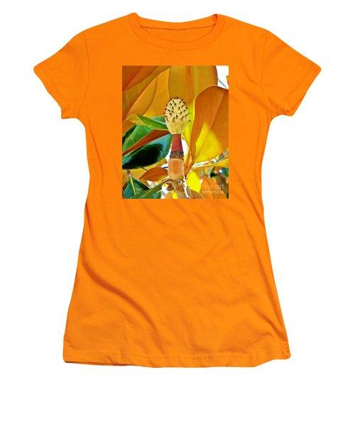 Women's T-Shirt (Junior Cut) featuring the photograph Magnolia Flower by Olga Hamilton