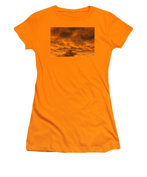 Mammatus Clouds Women's T-Shirt (Junior Cut) by Paul Rebmann