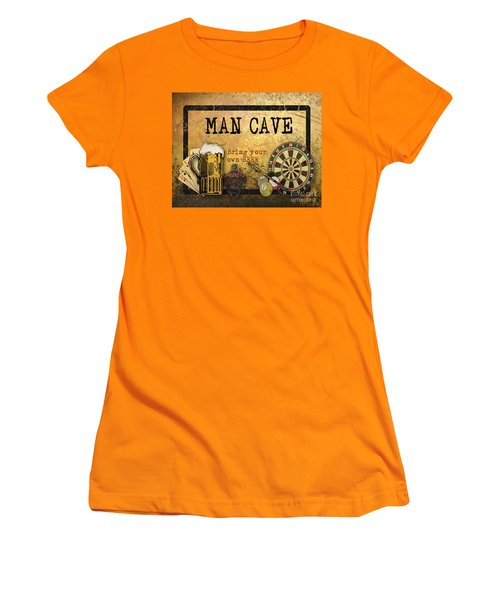 Man Cave-bring Your Own Beer Women's T-Shirt (Junior Cut)