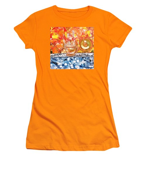 Women's T-Shirt (Junior Cut) featuring the painting Matinal by Evelina Popilian