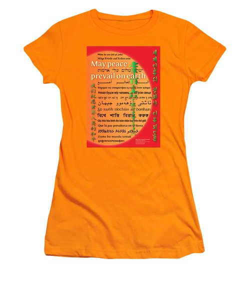 May Peace Prevail On Earth Women's T-Shirt (Athletic Fit)