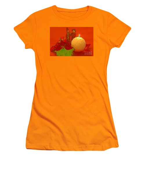 Women's T-Shirt (Junior Cut) featuring the photograph Merry Christmas by Teresa Zieba