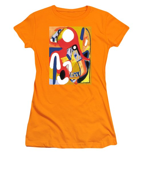 Women's T-Shirt (Junior Cut) featuring the painting Mirror Of Me 2 by Stephen Lucas