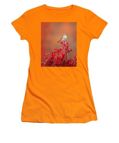 Mockingbird Autumn Women's T-Shirt (Junior Cut) by Bill Wakeley