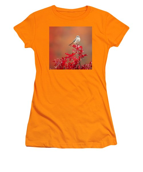 Mockingbird Autumn Square Women's T-Shirt (Junior Cut) by Bill Wakeley