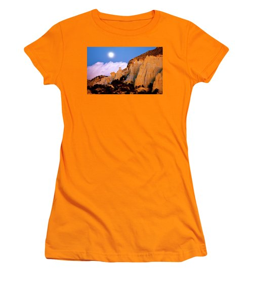 Moonrise Over The Kaiparowits Plateau Utah Women's T-Shirt (Athletic Fit)
