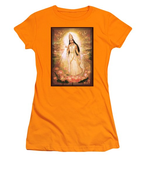 Mother Goddess With Angels Women's T-Shirt (Athletic Fit)