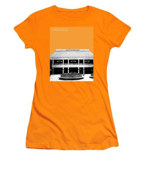 Nashville Skyline Grand Ole Opry - Orange Women's T-Shirt (Athletic Fit)