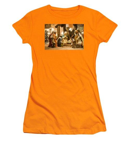 Women's T-Shirt (Junior Cut) featuring the photograph Nativity Set by Alex Grichenko