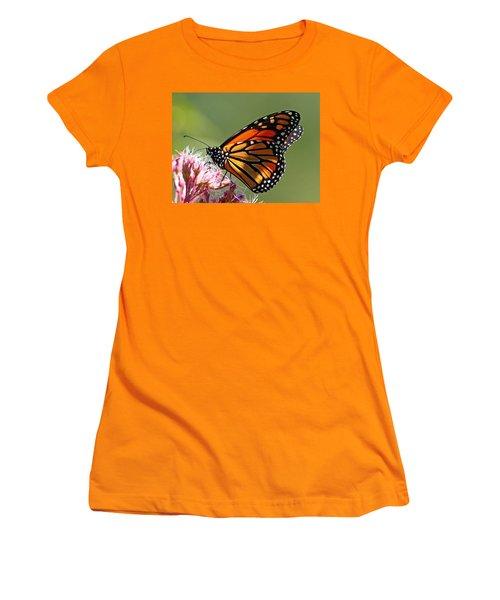 Nectaring Monarch Butterfly Women's T-Shirt (Junior Cut) by Debbie Oppermann