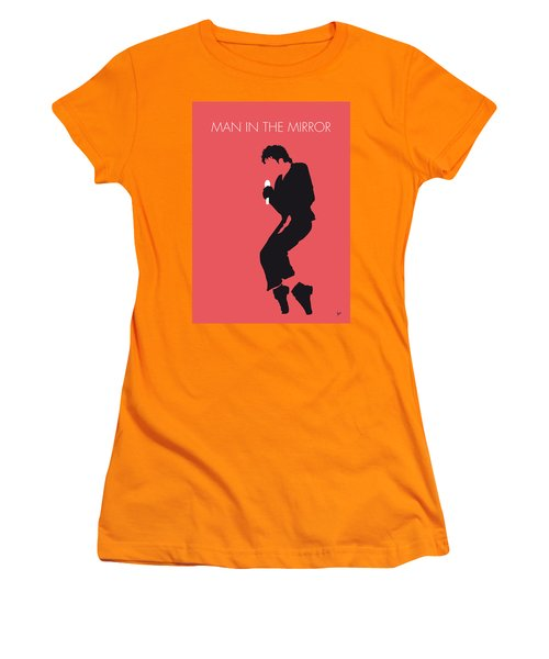 No032 My Michael Jackson Minimal Music Poster Women's T-Shirt (Athletic Fit)