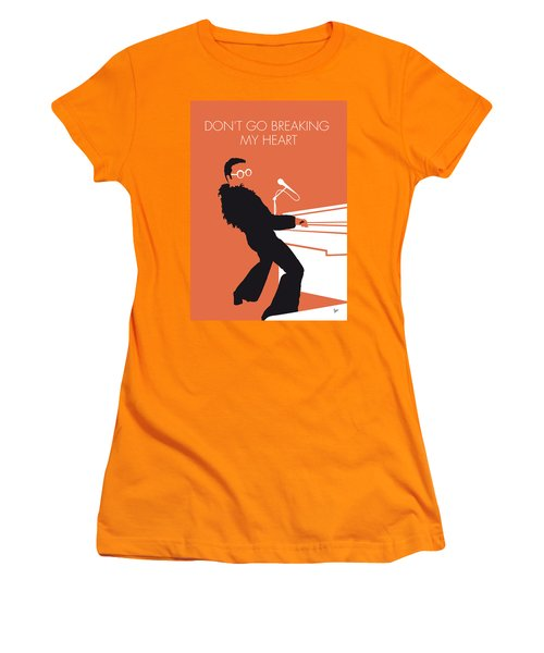 No053 My Elton John Minimal Music Poster Women's T-Shirt (Athletic Fit)
