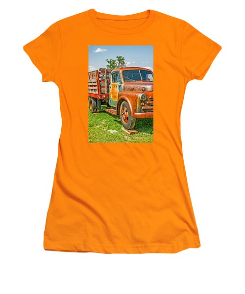 Women's T-Shirt (Athletic Fit) featuring the photograph Old Dually by Sue Smith