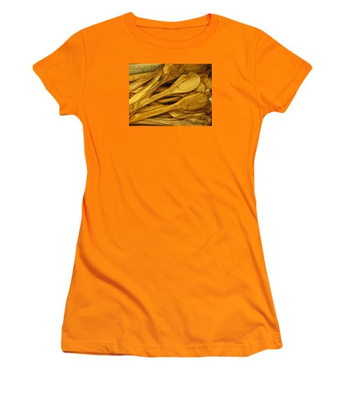 Olive Wood Women's T-Shirt (Athletic Fit)