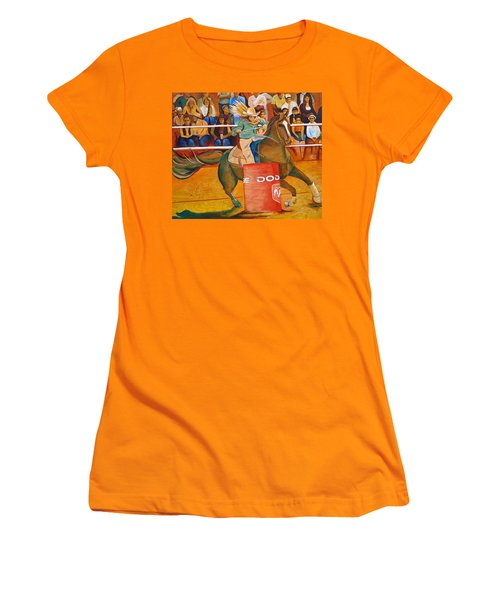 Women's T-Shirt (Junior Cut) featuring the painting On A Dime by Joshua Morton