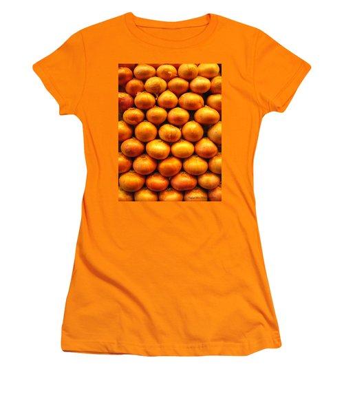 Onions Women's T-Shirt (Junior Cut) by Leena Pekkalainen