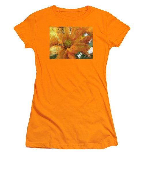 Orange Chrysanthemem Photoart Women's T-Shirt (Athletic Fit)