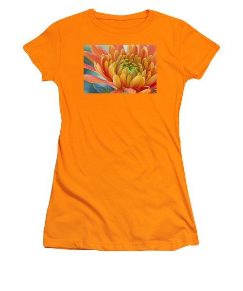 Orange Mum Closeup Women's T-Shirt (Athletic Fit)