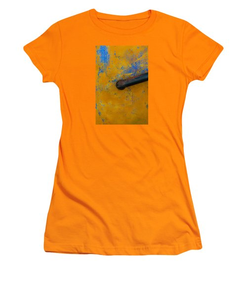 Women's T-Shirt (Junior Cut) featuring the photograph Orange On Blue by Edgar Laureano